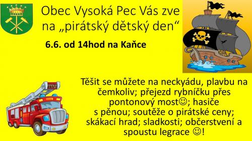 Den dětí - pirátský den 2020